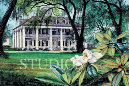 "Craig Routh, Artist & Illustrator - ""Houmas House Plantation"""