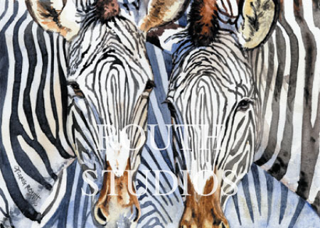 "Craig Routh, Artist & Illustrator - ""Zebras"""