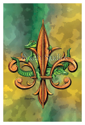 "Craig Routh, Artist & Illustrator - ""Alligator Fleur-de-lis"""