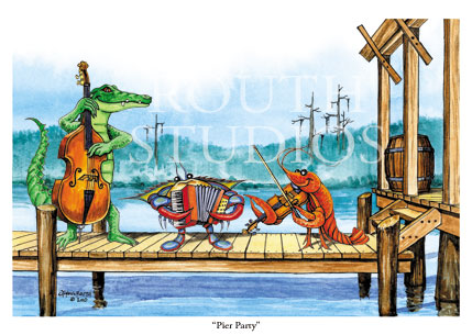 "Craig Routh, Artist & Illustrator - ""Pier Party"""