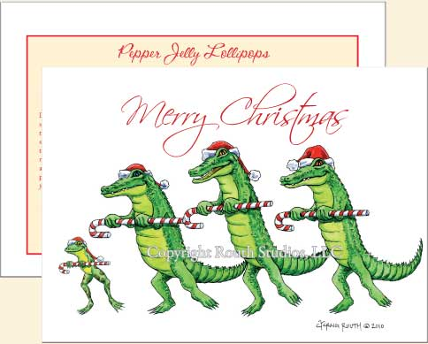 Alligator Christmas Cards | The Routh Collection