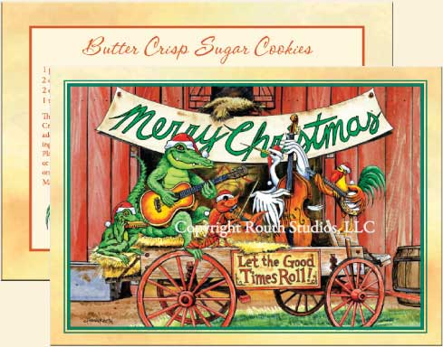 Southern Country Christmas Cards | Let the Good Times Roll Holiday ...