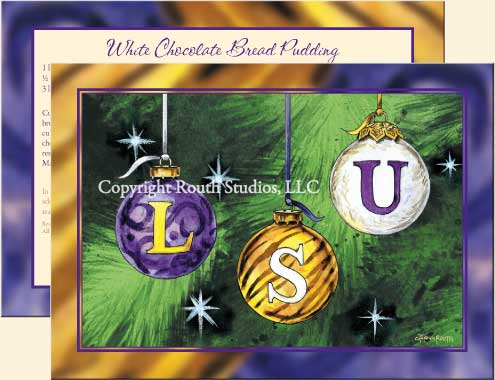 LSU Christmas Ornaments - LSU Christmas Cards   The Routh Collection