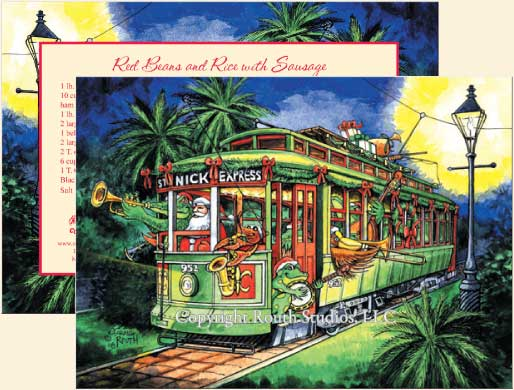 Greeting Cards - Cajun Greeting Cards - The St. Nick Express New ...