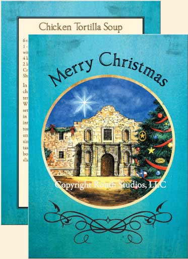 Texas Christmas Cards - Christmas at the Alamo