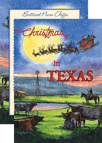 "Texas Christmas and Holiday Cards ""Home on the Range"""