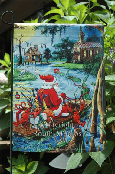 Routh Collection Yard Flags Bayou Trek Christmas