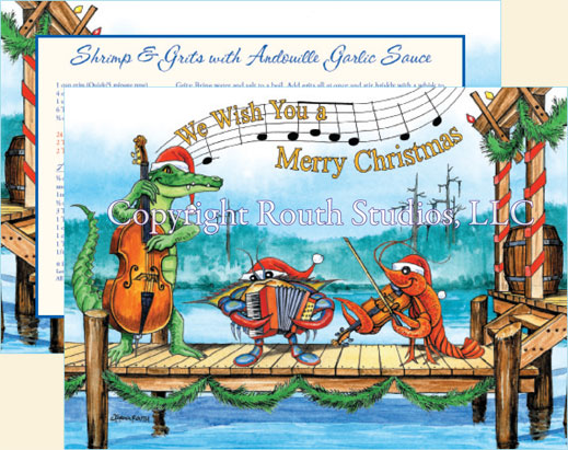 Cajun Christmas.Gulf Coast Louisiana Cajun Christmas Cards
