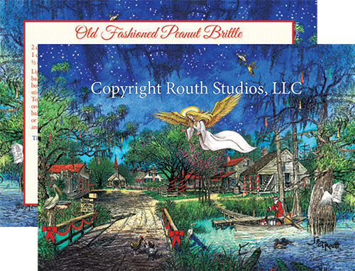 louisiana cajun angel christmas cards - Christmas In The Bayou