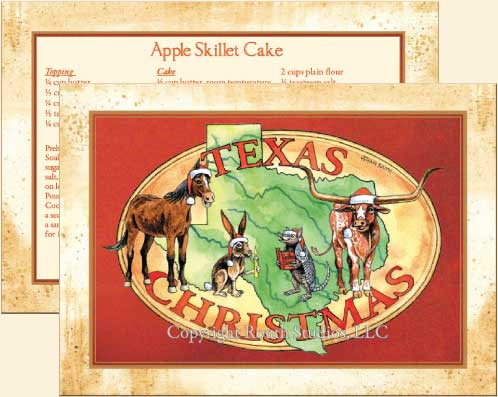 texas holiday cards of longhorn quarterhorse jackrabbit and armadillo singing christmas carols - Texas Christmas Cards