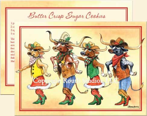texas longhorn christmas cards texas holiday cards - Texas Christmas Cards