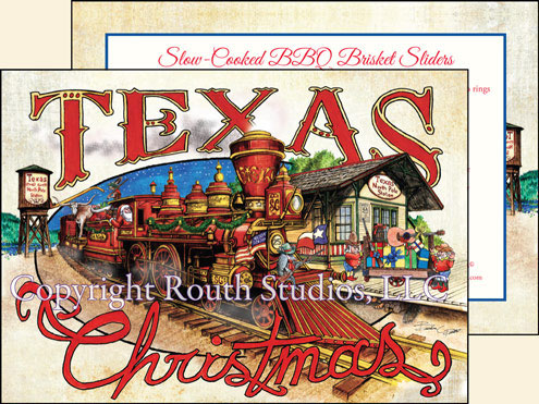 Texas Christmas Cards.Texas Christmas Cards Texas North Pole Train Station