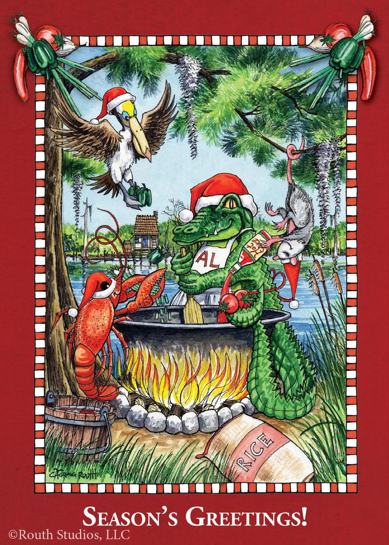 Louisiana Cajun Christmas Cards Gulf Coast Christmas Cards