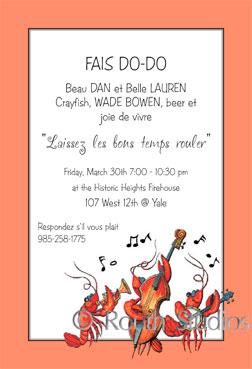Crawfish boil invitations jazz invitation louisiana themed invitations stopboris Choice Image